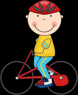 Kid On A Bike Clipart.