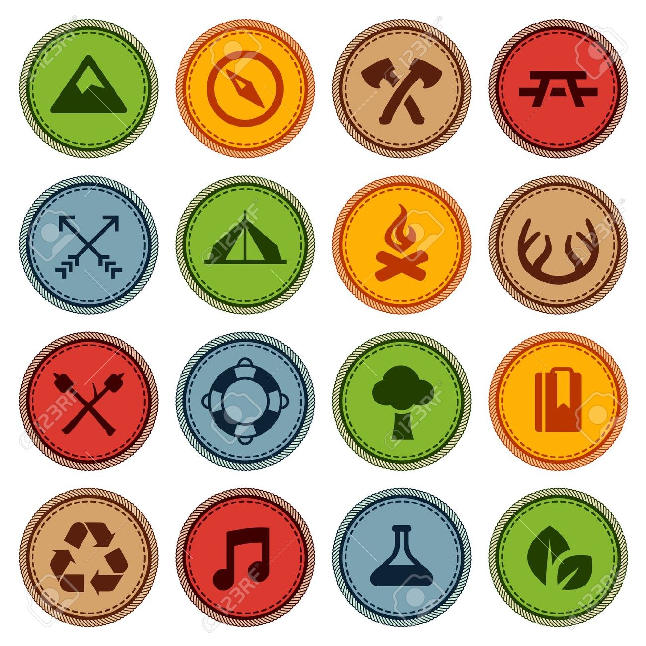 Boy scout merit badge clipart.