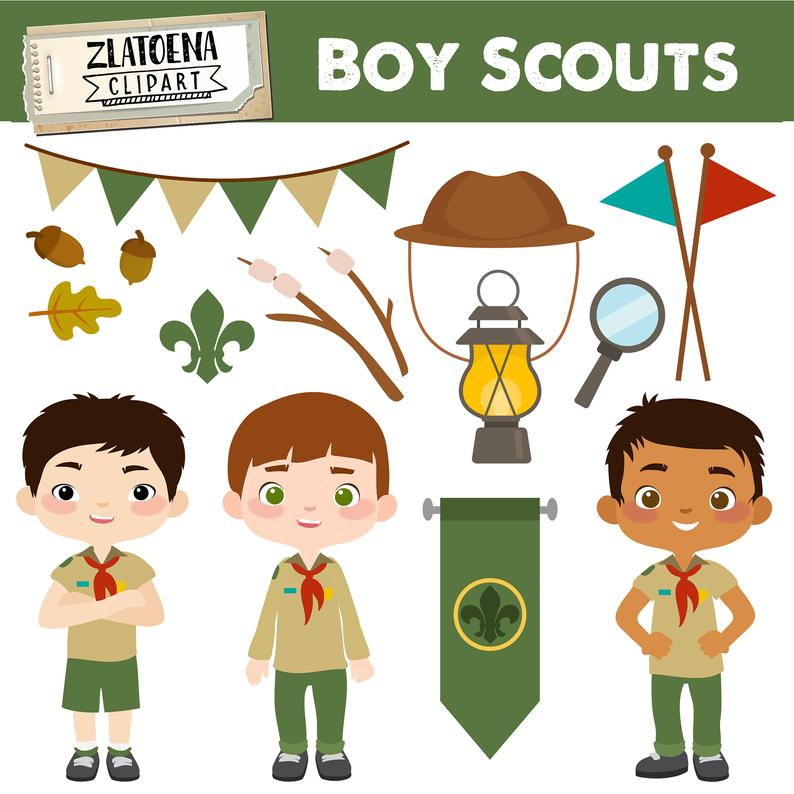 Boy Scout Clipart Scout Boy Clip art Camping Digital Kids Camping Printable  art Explorer Clip art Boys Scouts Troop Camping.