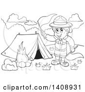 Boy scout clipart black and white 2 » Clipart Portal.