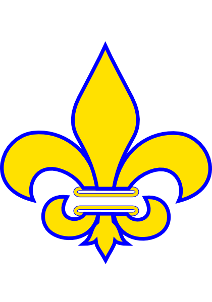 Fleur De Lis Gold With White clip art.