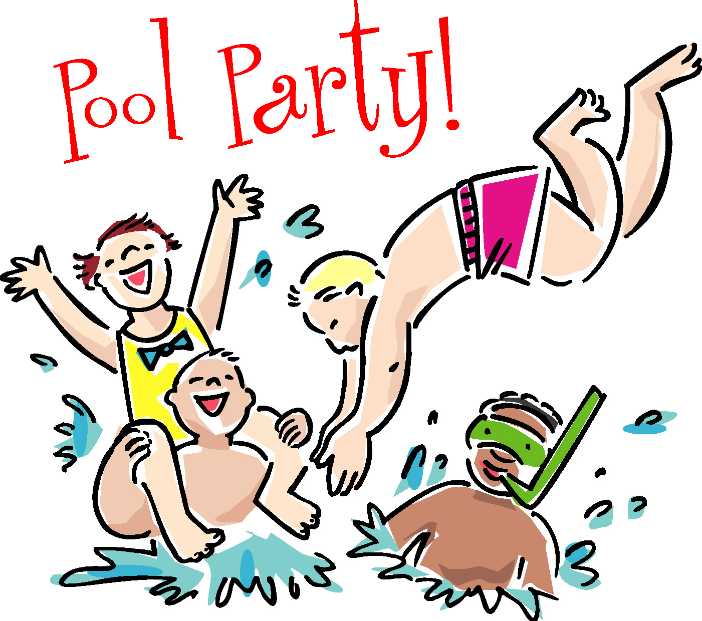 clipart pool party free #20