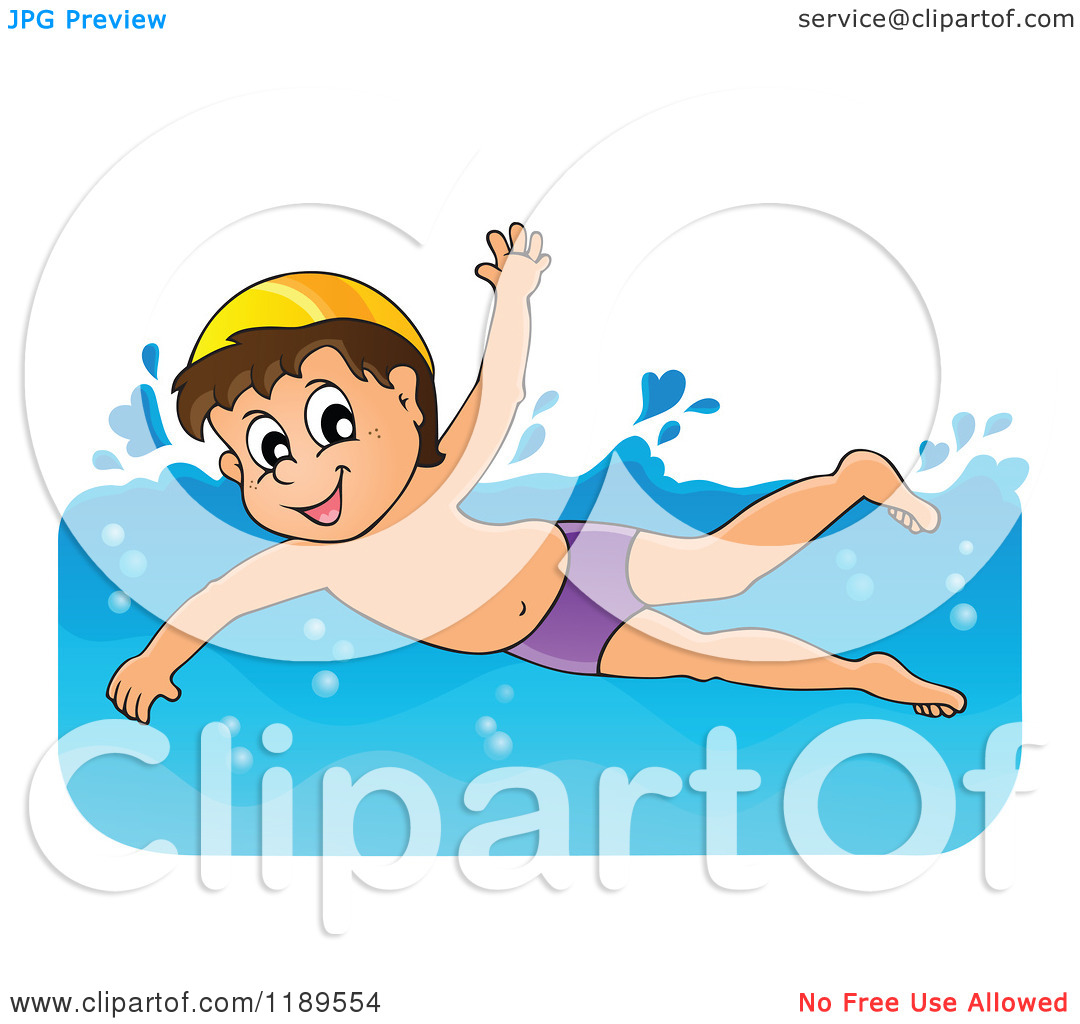 Boy Swimmer Clipart.
