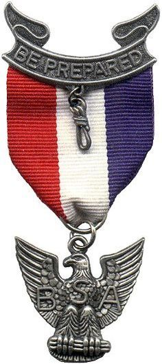 Large Eagle Scout Badge and Medal Image for Presentations.