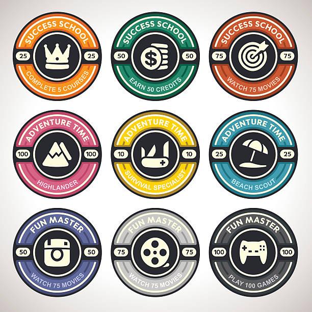 Boy Scout Merit Badges Illustrations, Royalty.