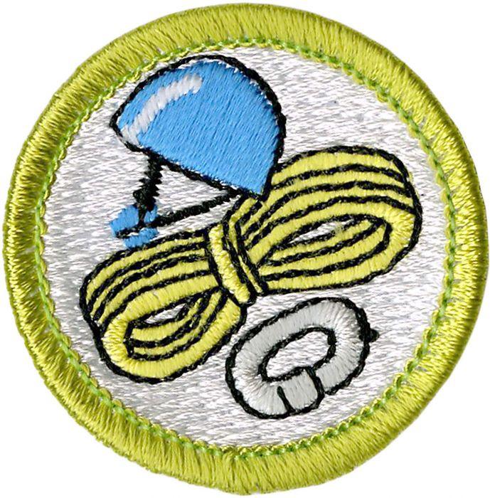 Climbing Merit Badge Emblem.