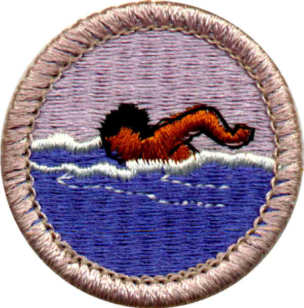 Free clipart swimmer boy scout.