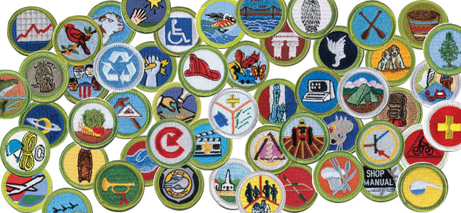 Merit Badges.