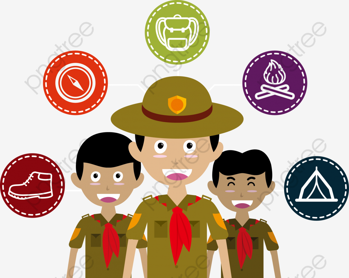 Vector Illustration Boy Scouts, Boy Scout, Army, Vector PNG and.