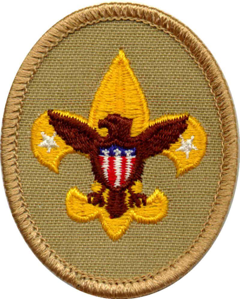 Tenderfoot badge clip art.
