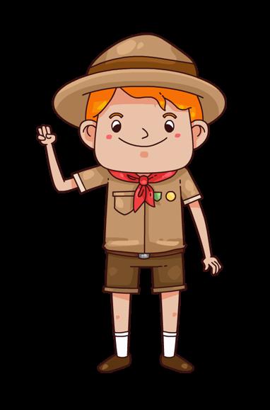 Clip art of boy scout.