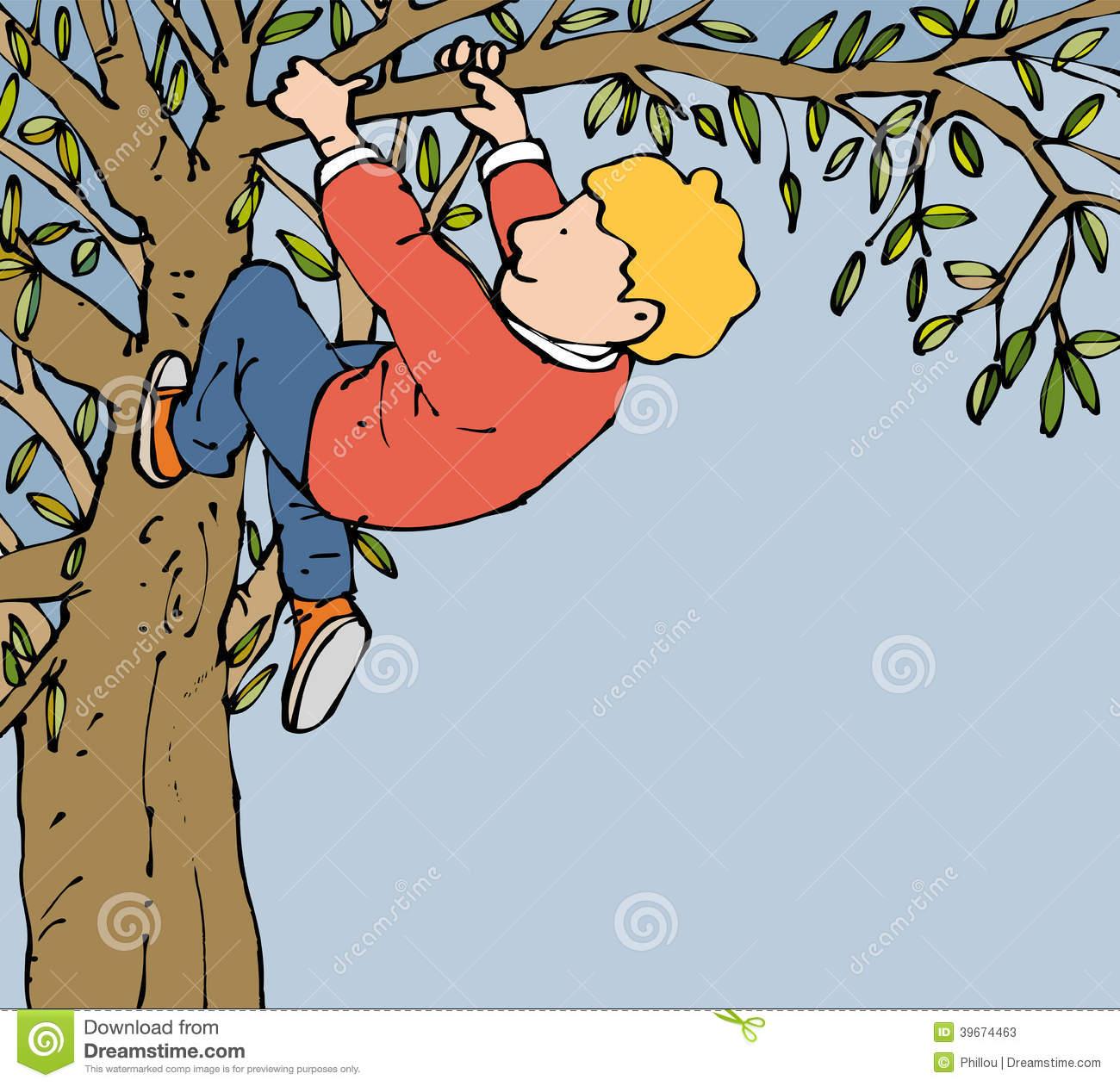 Boy Climbing Clipart.