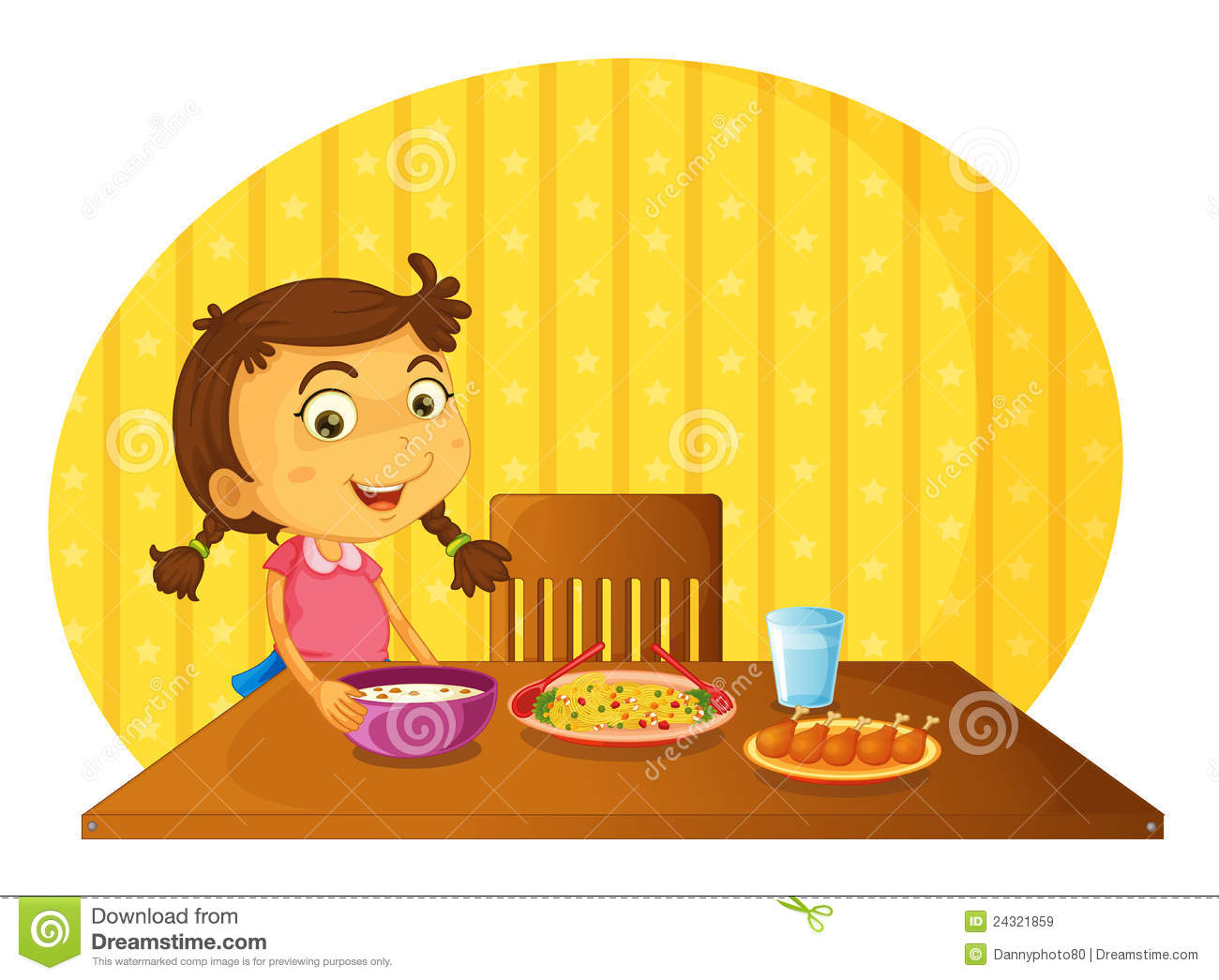 Boy Setting The Table Clipart.