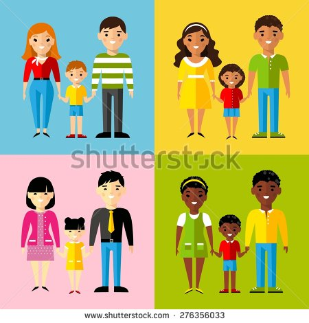 Multicultural Family Stock Images, Royalty.