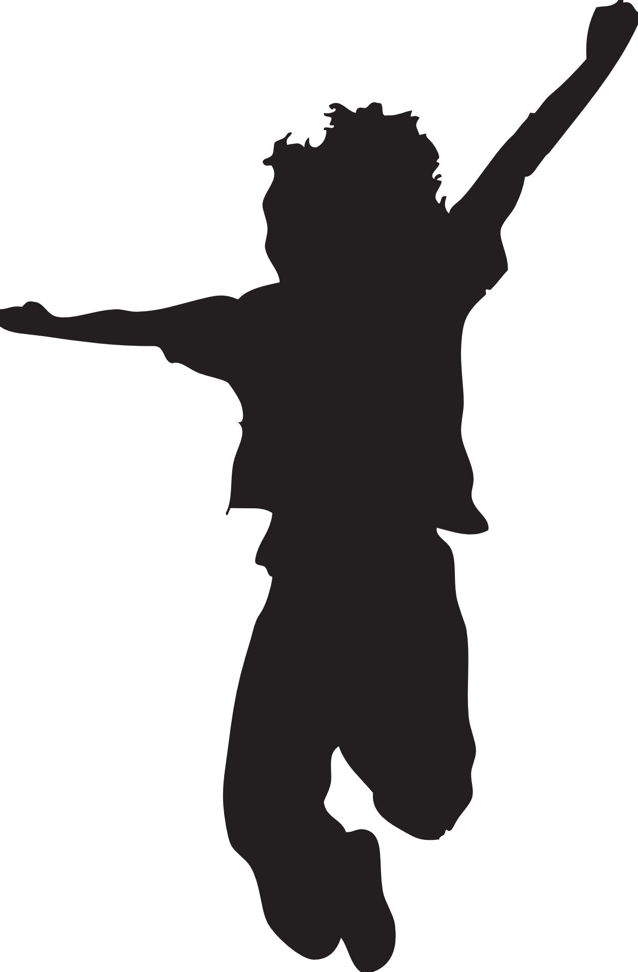 Jumping Silhouette Clipart.