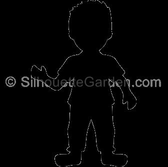 Boy Silhouette Clip Art.