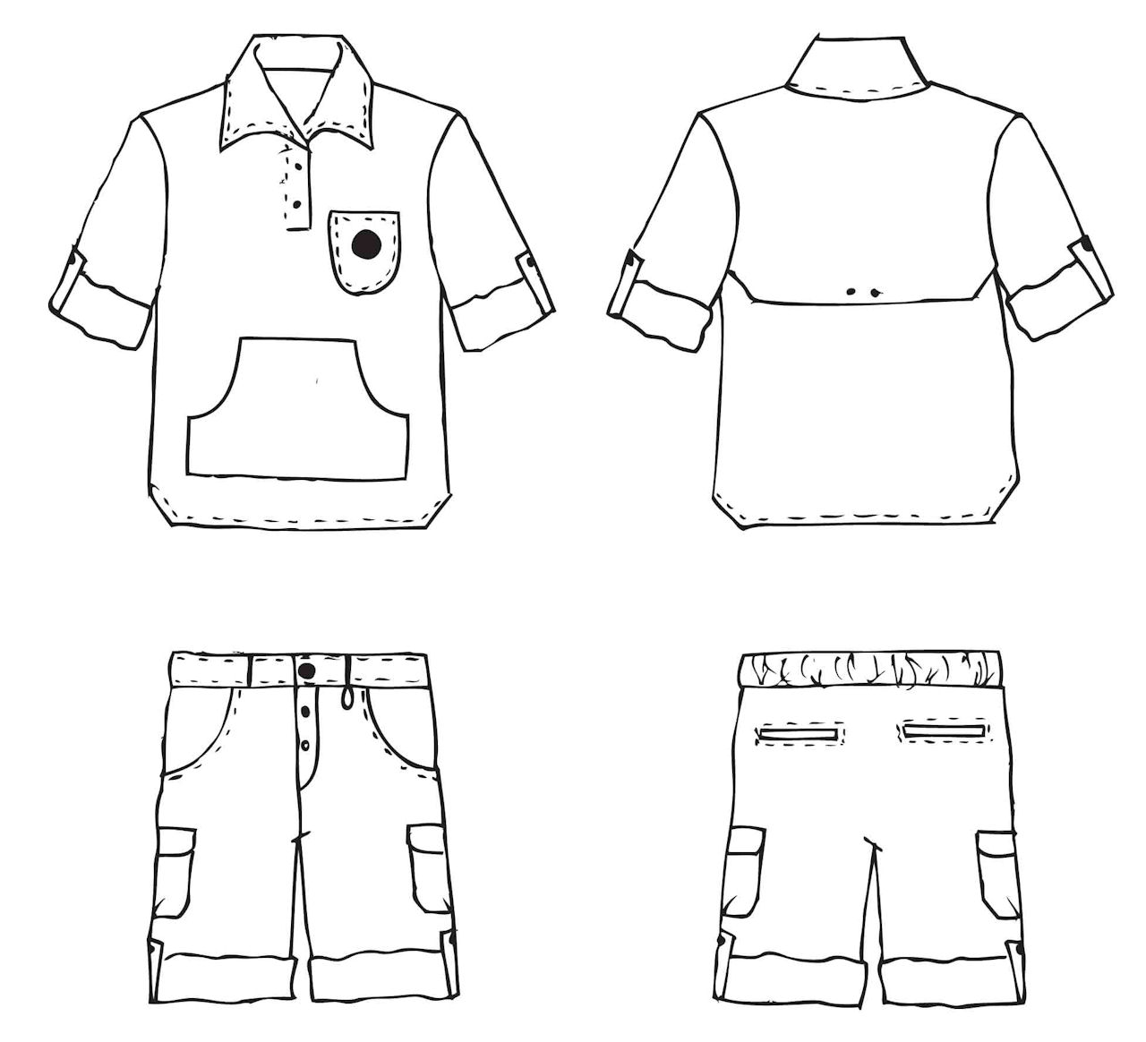 Boy Shirt Clipart Black And White.