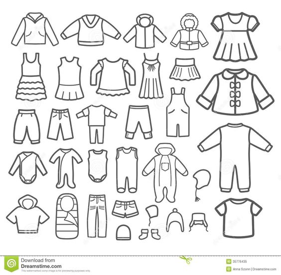 Boy Clothes Clipart Black And White.