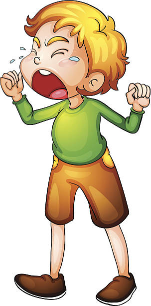 Child Yelling Clipart.