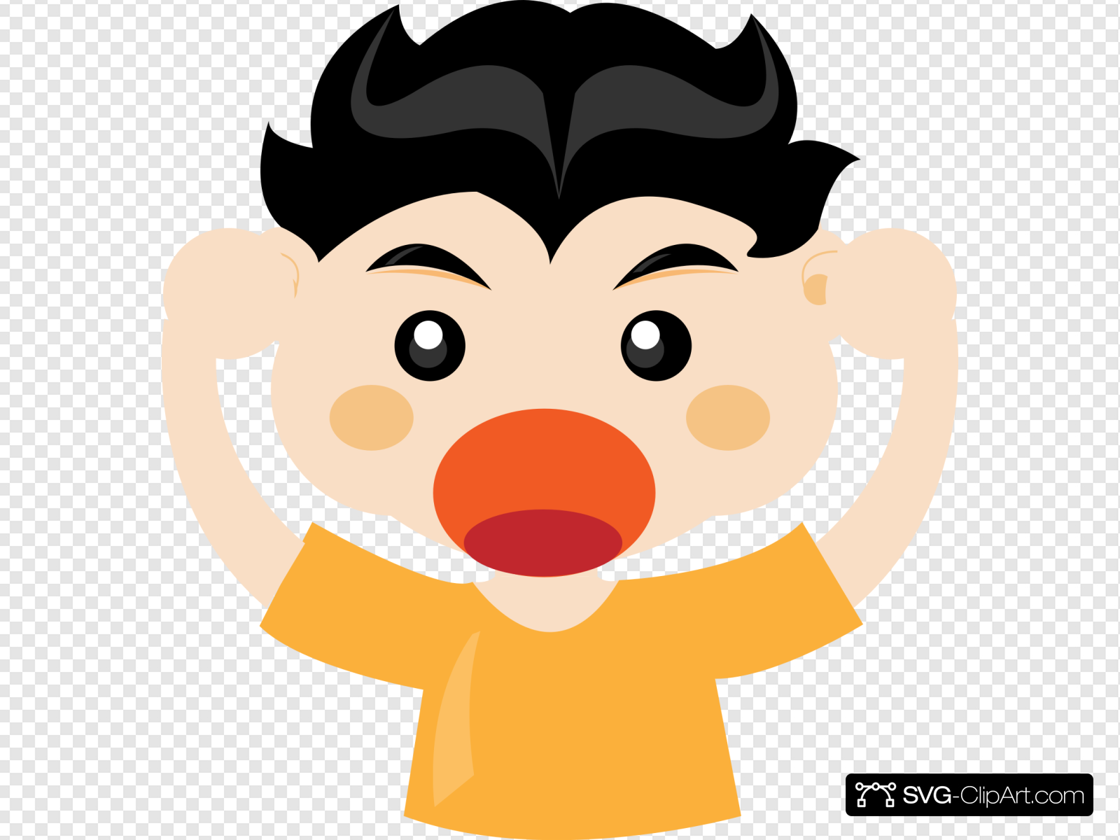 Boy Shouting Clip art, Icon and SVG.