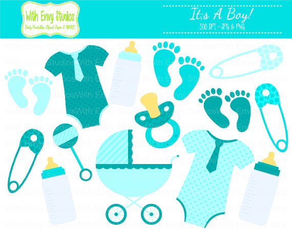 Items similar to 50% OFF Baby Boy Clipart.