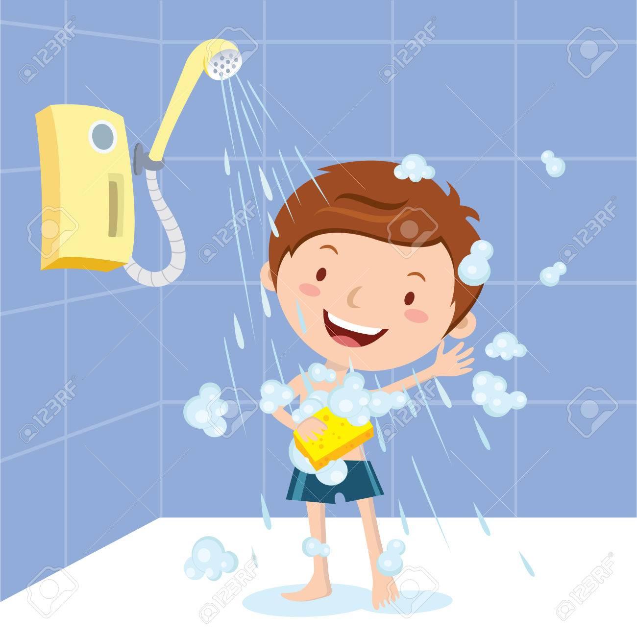 Boy shower.