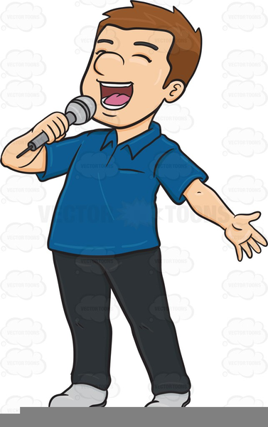 Singing Boy Clipart.
