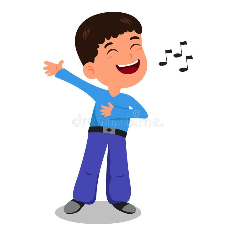 Boy Sing Stock Illustrations.