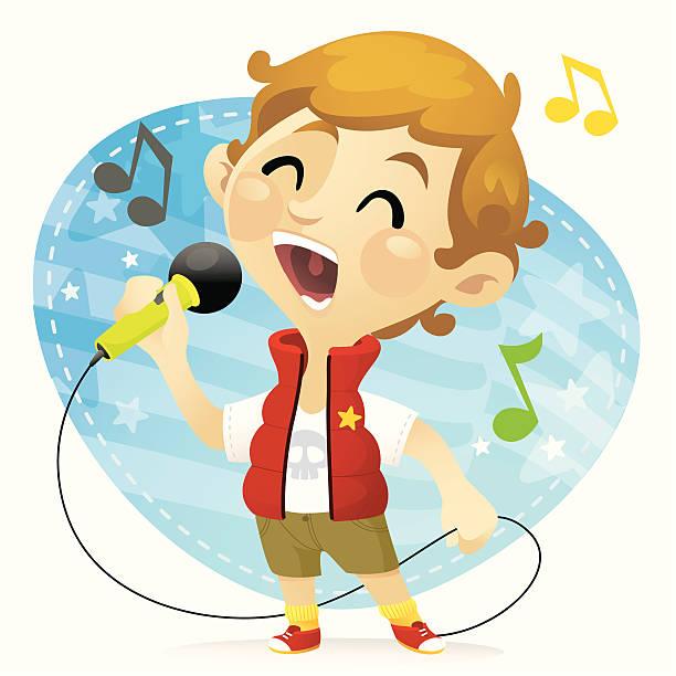 Best Boy Singing Illustrations, Royalty.