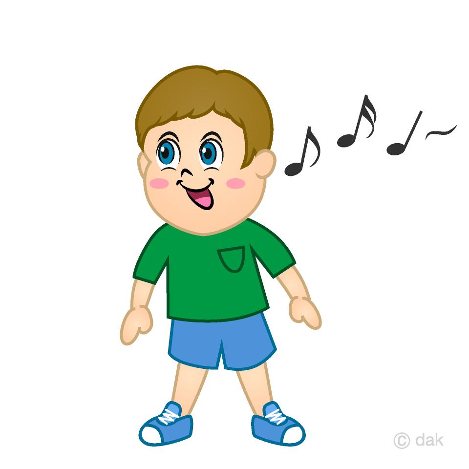Singing Boy Clipart Free Picture Illustoon.