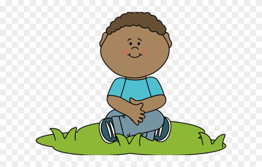Boy Sitting Down Clipart.