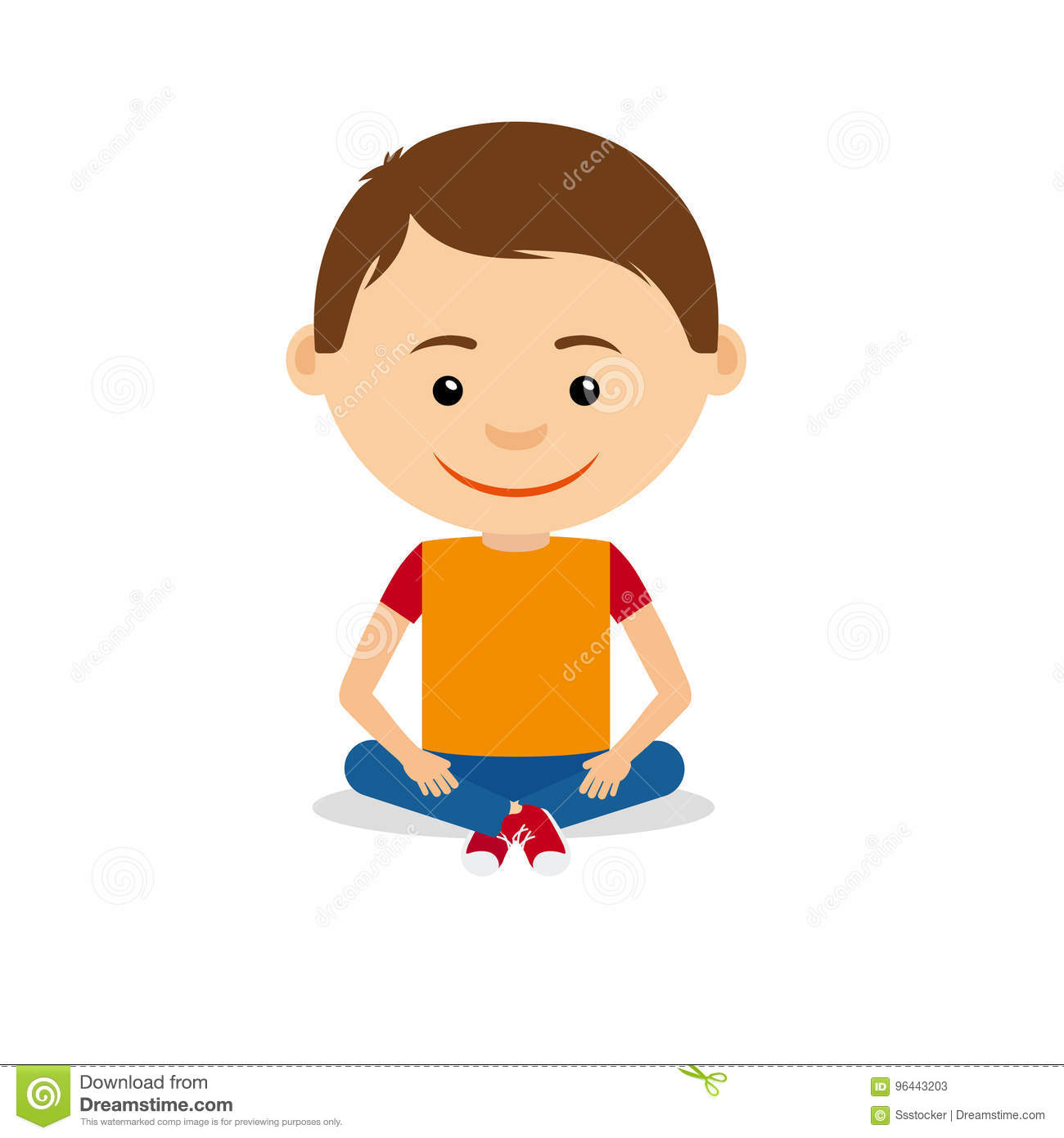 Boy sitting clipart 1 » Clipart Station.