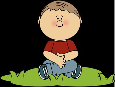 Clipart Boy Sitting.