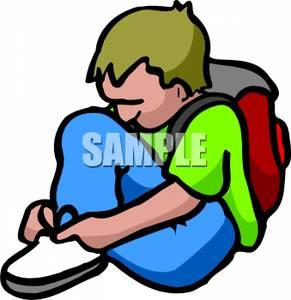 Boy Sitting On Floor Clipart.