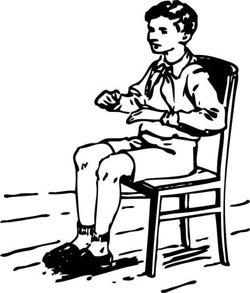 Clipart Black Boy Sitting On Chair.
