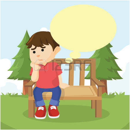 Boy Sitting Alone Clipart Free.