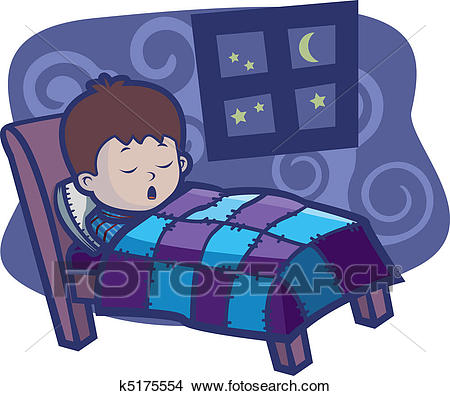 Boy Sleeping Clipart.