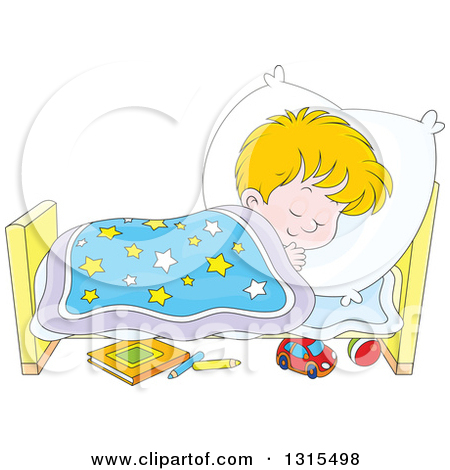 boy go to bed clipart