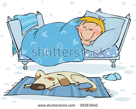 Child Sleeping In Bed Stock Images, Royalty.