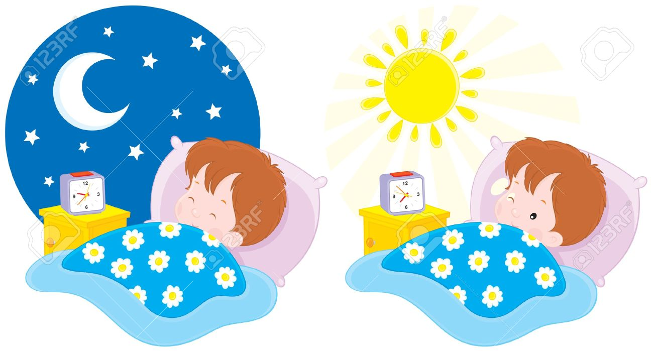 boy sleeping in his bed clipart - Clipground