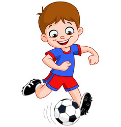 Soccer Football Boy Player Clipart Cartoon Vector Images (46).