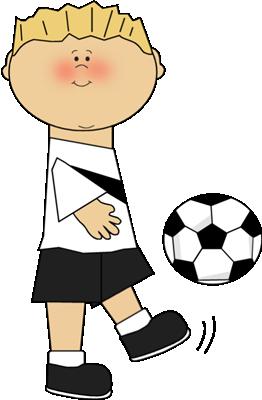 Boy Soccer Player Clipart.