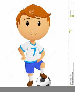Boy Playing Football Clipart.