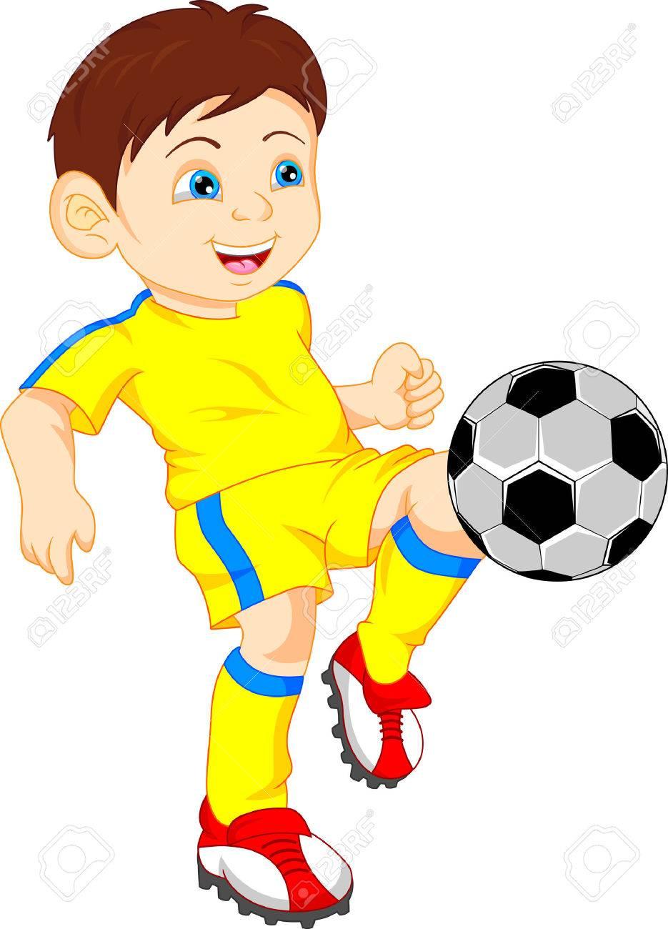 cute boy soccer player.
