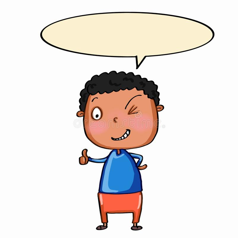 Boy Speaking Stock Illustrations.