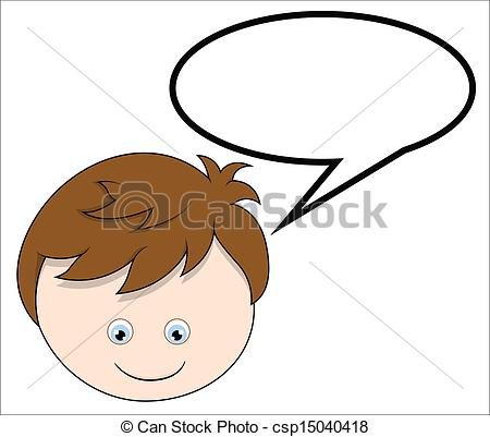 Boy with Speech Bubble.