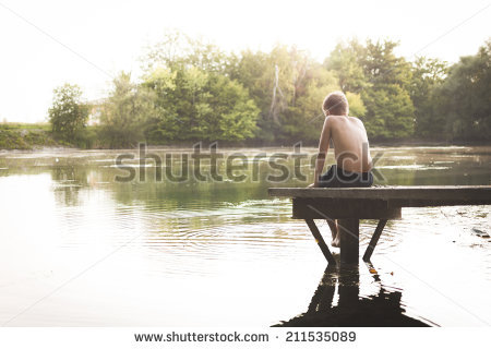 Lonely Boy Stock Images, Royalty.