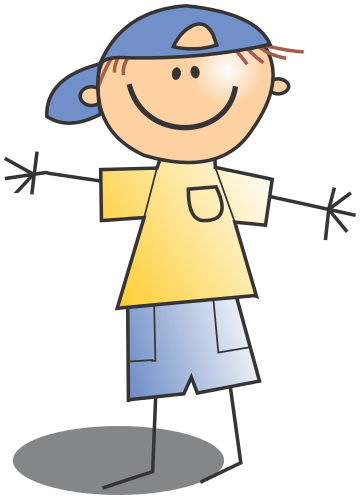 Happy Boy Stick Figure Clip Art Download.