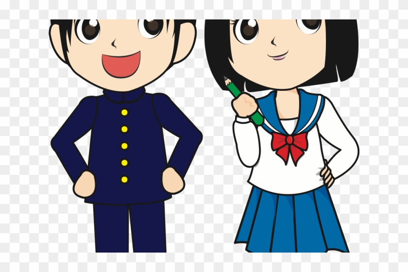 Download Free png Japan Clipart Student Student Boy Girl Png Free.