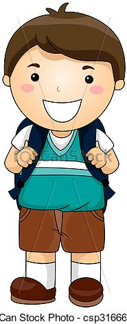 Boy Student Clipart.
